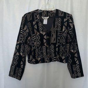 Vintage Velvet Blazer Cropped Fit